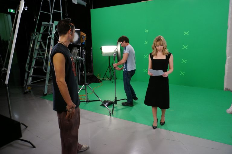 TV Studio Presenting Green Screen Emma Grant Williams